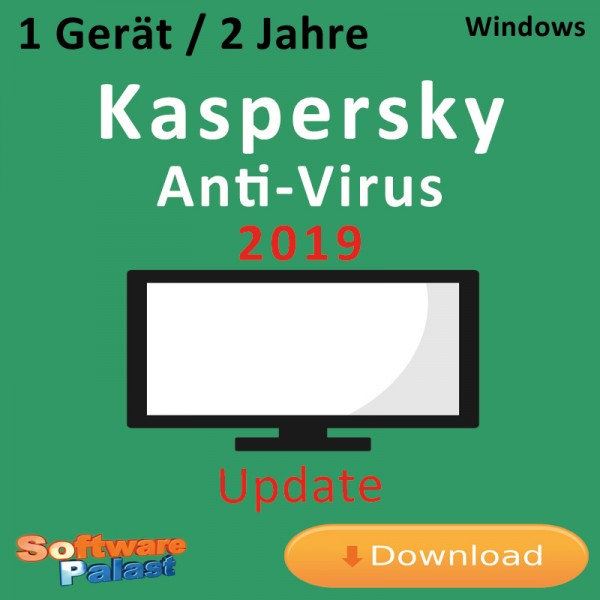 Kaspersky Anti-Virus 2019 *1-Gerät / 2-Jahre* Update, Download