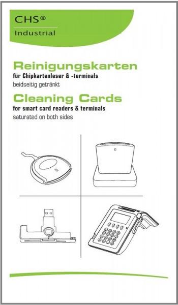 CHS SCR Cleaning-Card 100 Reinigungskarten für Magnet- und Chipkartenleser