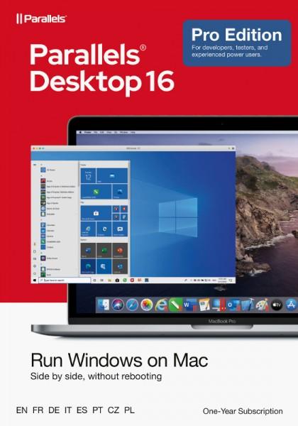 Parallels Desktop 16 PRO für MAC 1-Jahr, ESD Lizenz, Download, KEY
