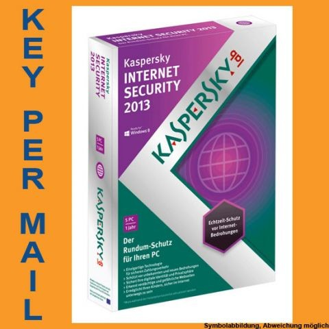Kaspersky Internet Security, Upgrade, 5 User, 1 Jahr, KEY