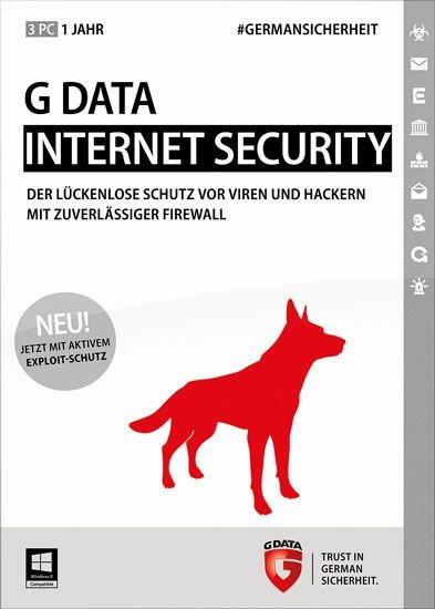 G DATA InternetSecurity, Vollversion, 3 User, 1 Jahr, KEY