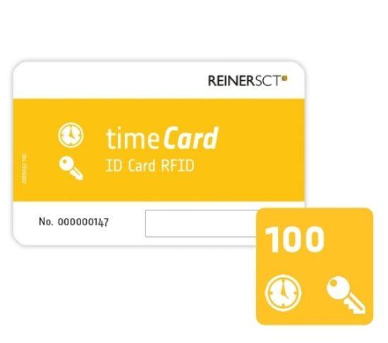 REINER SCT timeCard RFID Chipkarten 100 Stk. (DES)