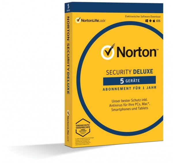 Norton Security Deluxe 3.0 *5-Geräte / 1-Jahr* BOX (Card Case)