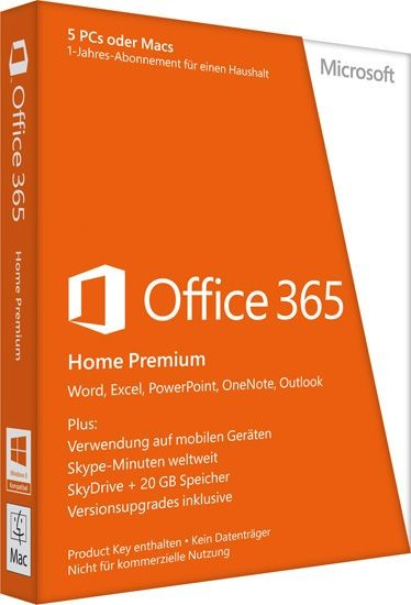 Microsoft Office 365 Home Premium, 5 PCs/MACs + 5 Tablets, PKC Box