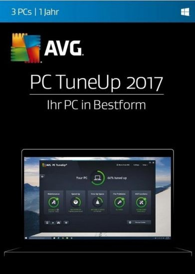 AVG TuneUp Utilities, 3 User, 1 Jahr, 2017, KEY