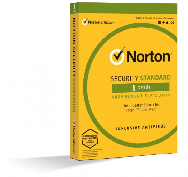 Norton Security Standard 3.0 *1-Gerät / 1-Jahr* BOX (Card Case)