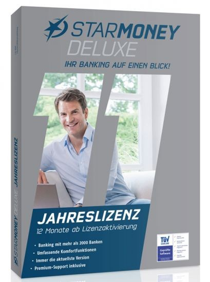 StarMoney Deluxe Jahreslizenz inkl. Premiumsupport, DVD-Box
