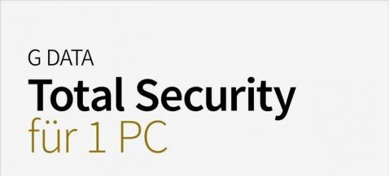 G Data Total Security, 1 PC, 1 Jahr, 2017, KEY