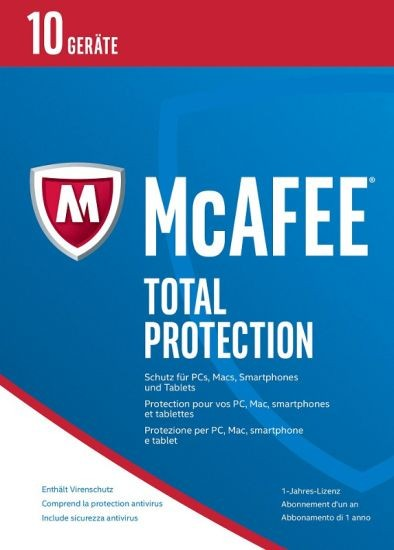 McAfee 2017 Total Protection - 10 Geräte, 1 Jahr, ESD, Lizenz, Download