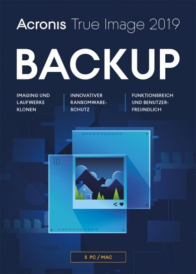 Acronis True Image 2019, 5 Geräte, Dauerlizenz, Download