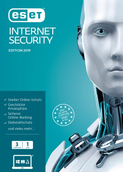 ESET Internet Security 2019 3-Geräte 1-Jahr, ESD, Lizenz, Download, #KEY