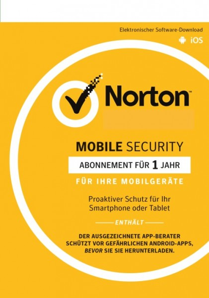 Norton Mobile (Internet) Security 3.0, Android + IOS, 1 Gerät, KEY