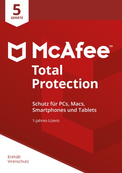 McAfee Total Protection (2018) 5 Geräte 1 Jahr ESD