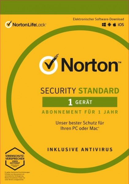 Norton Security Standard 3.0 *1-Gerät / 1-Jahr* ESD Lizenz Download