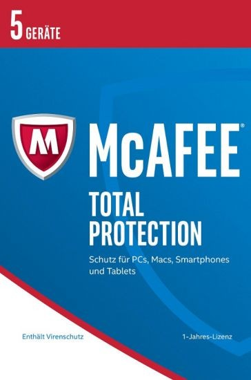 McAfee 2017 Total Protection - 5 Geräte, 1 Jahr, ESD, Lizenz, Download