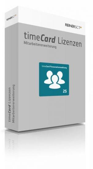 REINER SCT timeCard 6 Personalverwaltung Erweiterung um 25 Benutzer, Lizenz