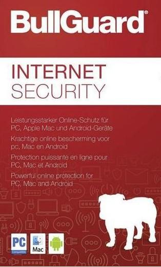 BullGuard Internet Security 2018, 1 Gerät, PC/Mac/Android,1 Jahr, Download KEY