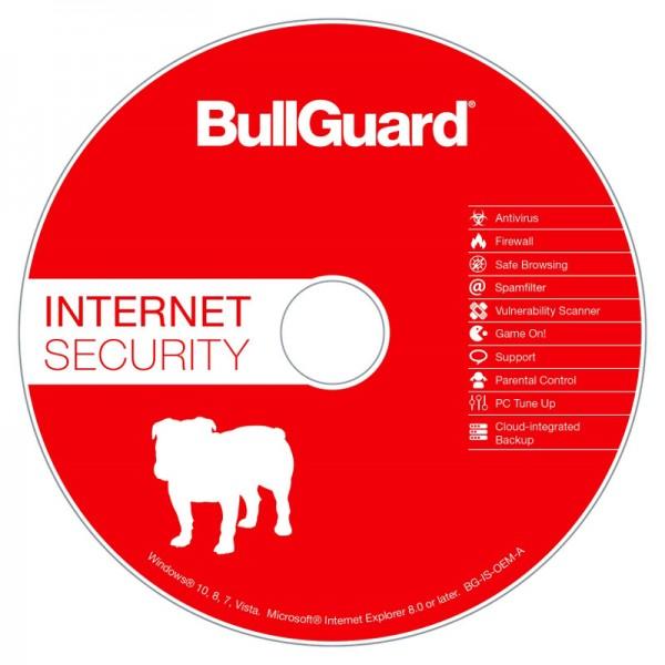 BullGuard Internet Security 1 PC, 1 Jahr OEM Vollversion CD